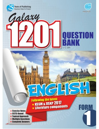 GALAXY 1201 QUESTION BANK English Form 1
