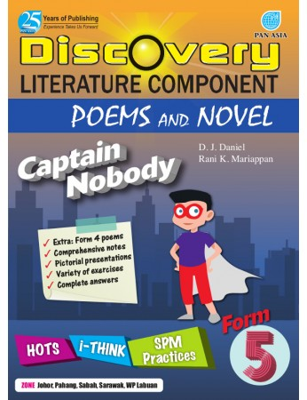 DISCOVERY LITERATURE COMPONENT POEMS AND NOVEL Captain Nobody Form 5
