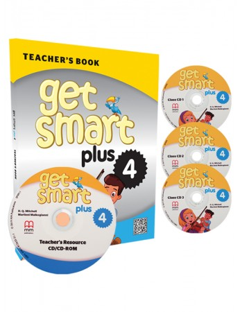 GET SMART PLUS 4 Teacher's Book, Class CDs (3), Teacher's Resource CD-ROM