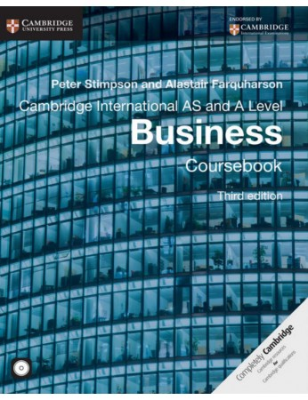 Cambridge International AS & A Level Business Coursebook with CD-ROM (3rd edition)