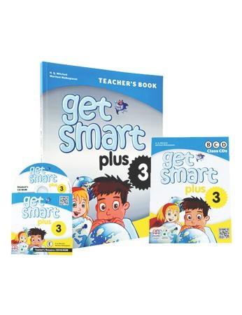 GET SMART PLUS 3 Teacher's Book, Class CDs (3), Teacher's Resource CD-ROM