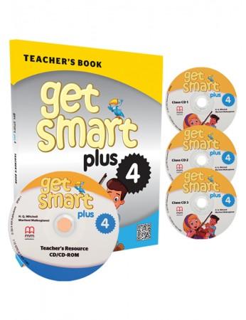 GET SMART PLUS 4 Teacher's Book, Class CDs (3), Teacher's Resource CD-ROM